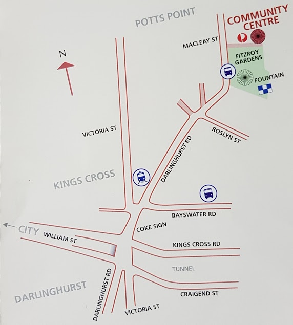Kings Cross Community Centre location map